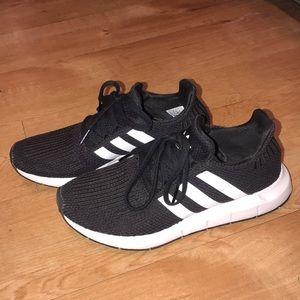 Adidas Black & White Running Sneakers